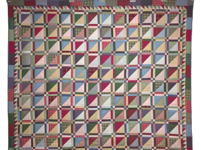 Plaid Homespun Squares Quilt Photo 2