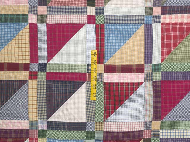 Plaid Homespun Squares Quilt Photo 4
