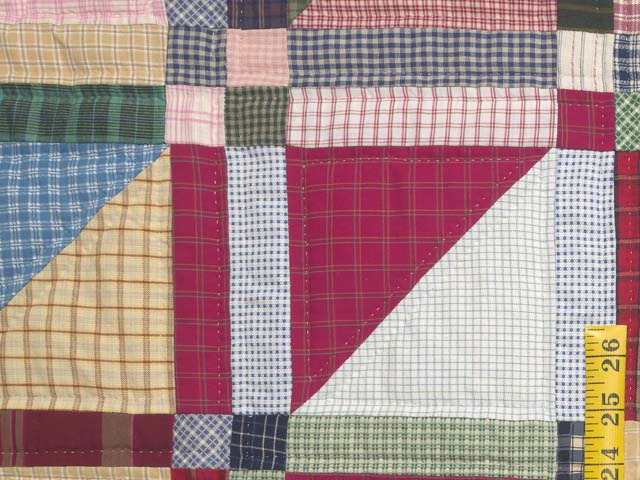 Plaid Homespun Squares Quilt Photo 5