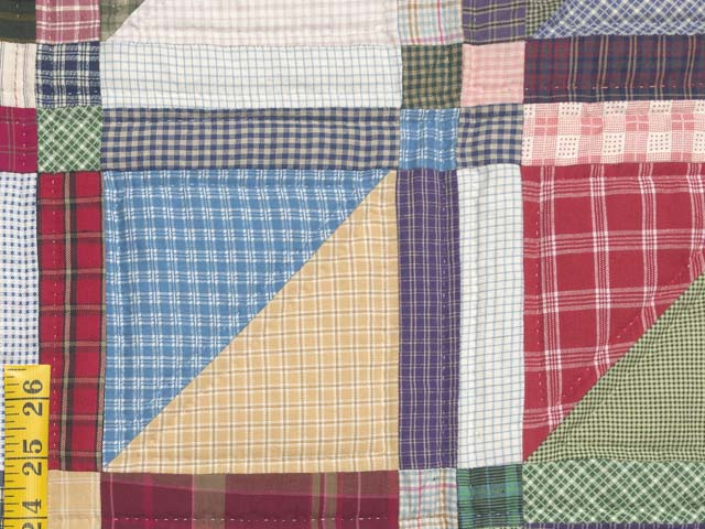 Plaid Homespun Squares Quilt Photo 6