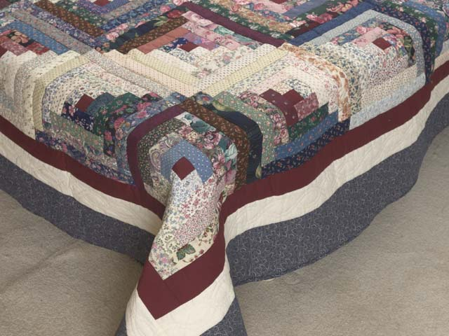 Scrappy Log Cabin Quilt Photo 7
