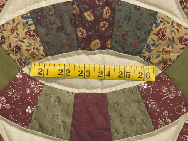 Twin Autumn Leaves Double Wedding Ring Quilt Photo 6