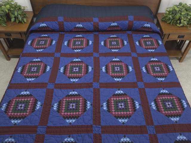 Amish  Framed Sunshine Diamonds Quilt Photo 1