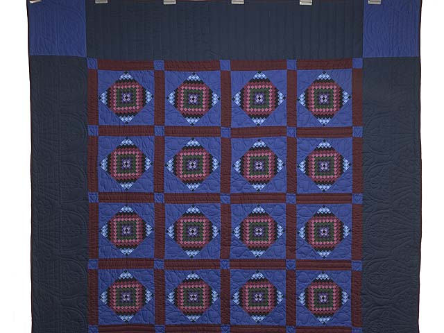 Amish  Framed Sunshine Diamonds Quilt Photo 2