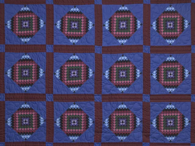 Amish  Framed Sunshine Diamonds Quilt Photo 3
