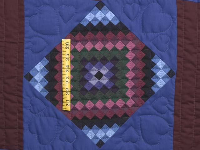 Amish  Framed Sunshine Diamonds Quilt Photo 4