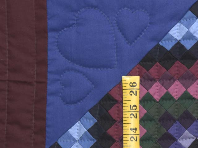 Amish  Framed Sunshine Diamonds Quilt Photo 5