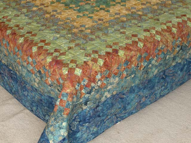 Golden Multicolor Blooming Nine Patch Quilt Photo 7