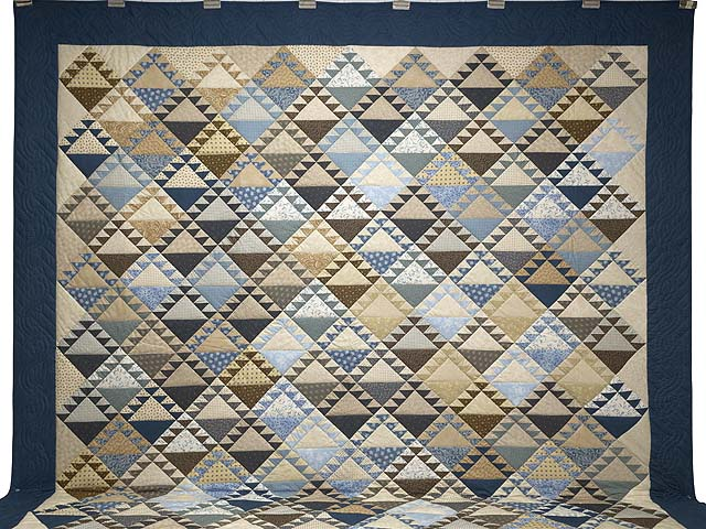 Blues and Tans Lady of the Lake Quilt Photo 2