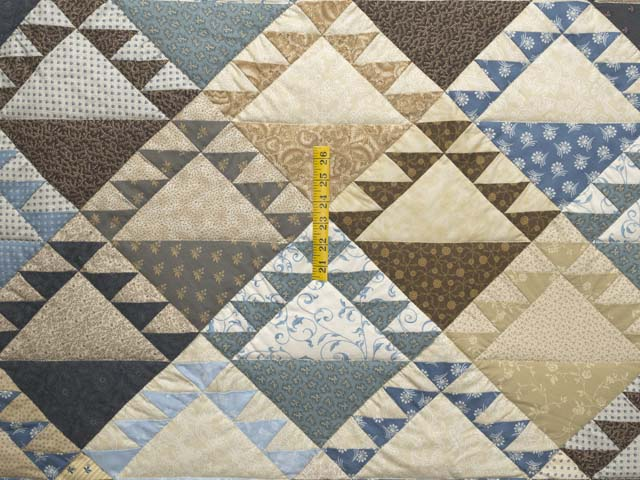 Blues and Tans Lady of the Lake Quilt Photo 4