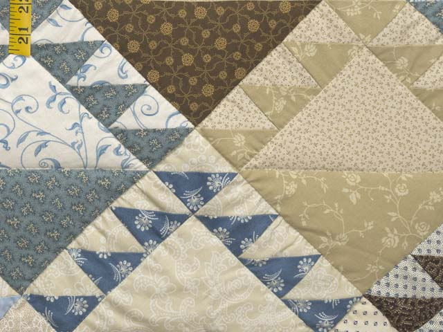 Blues and Tans Lady of the Lake Quilt Photo 6