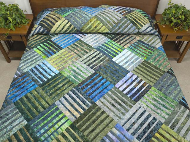 King Batik Underwater Blues Quilt Photo 1