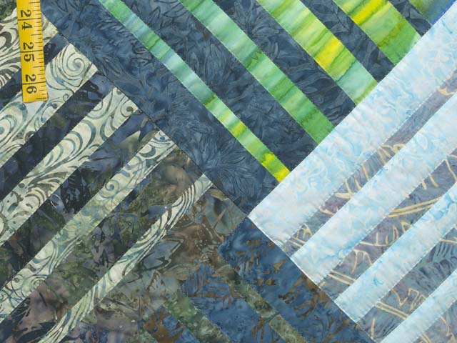 King Batik Underwater Blues Quilt Photo 6