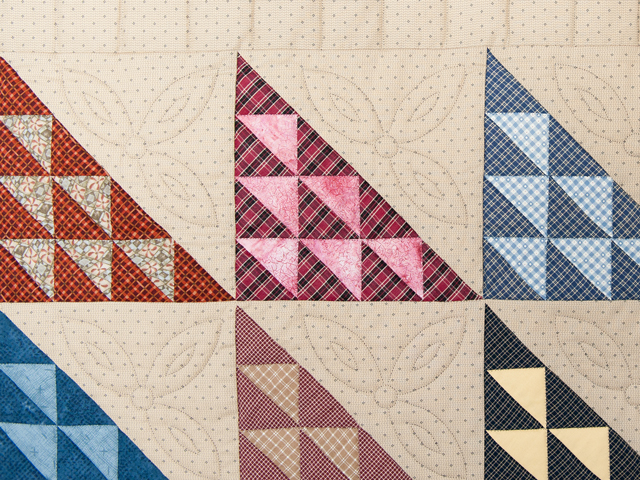 Navy and Multicolor Birds in the Air Quilt Photo 4