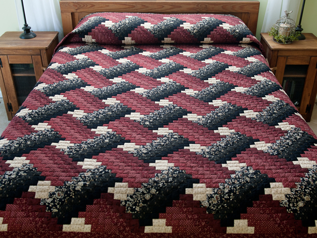 Brick, Black and Beige Weaver Fever Quilt Photo 1