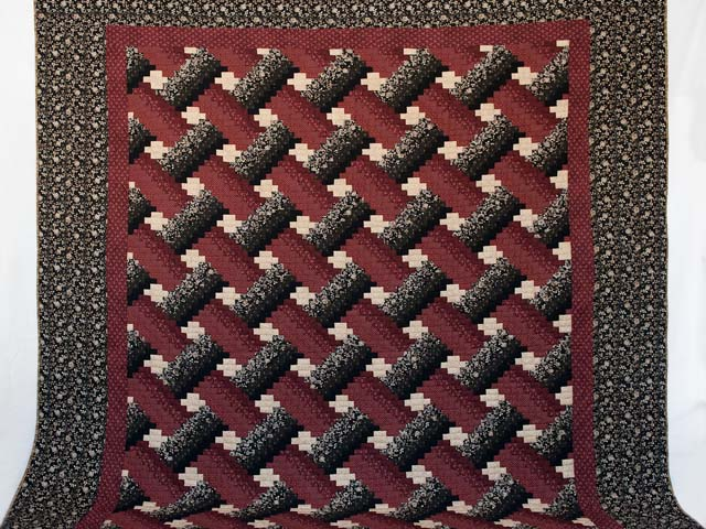 Brick, Black and Beige Weaver Fever Quilt Photo 2