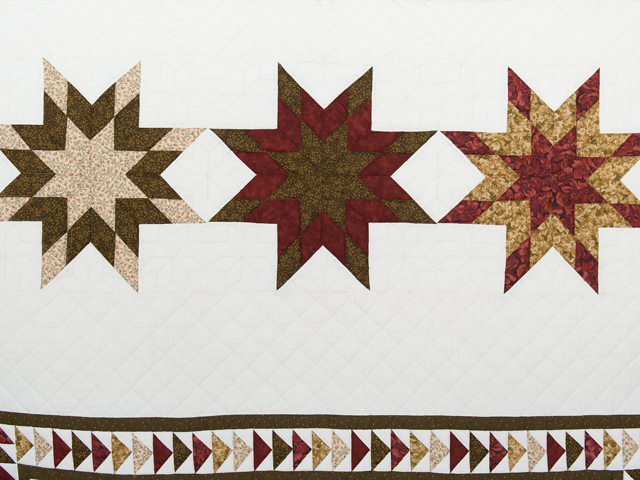 Sage, Brick and Gold Lone Star Flying Geese Quilt Photo 3