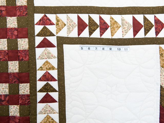 Sage, Brick and Gold Lone Star Flying Geese Quilt Photo 5