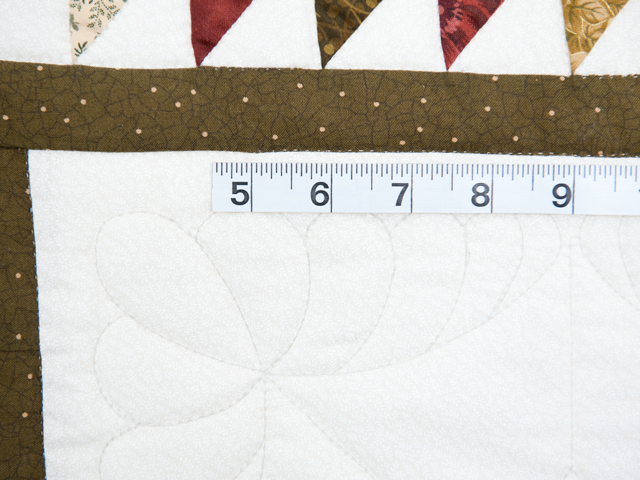 Sage, Brick and Gold Lone Star Flying Geese Quilt Photo 6