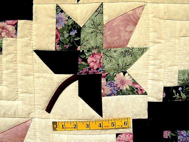 Green and Mauve Cabin Splendor Quilt Photo 4