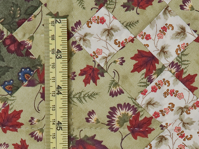 Red, Green, Ivory with Navy Border