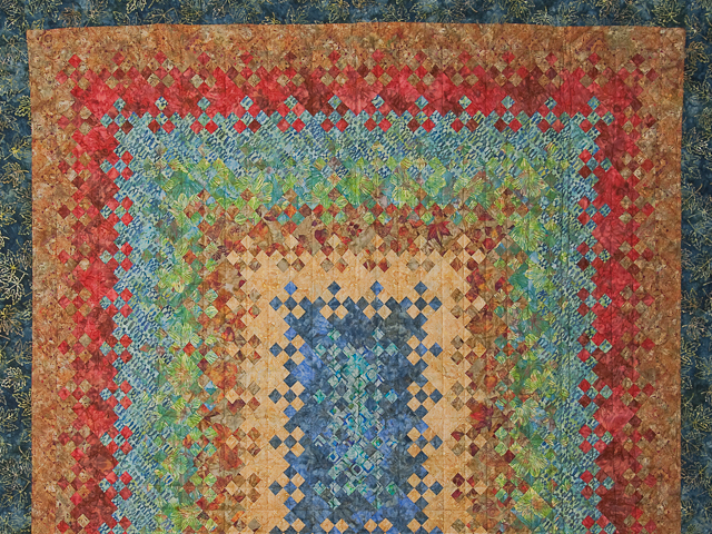 Batik Blooming Nine Patch  Quilt Photo 3