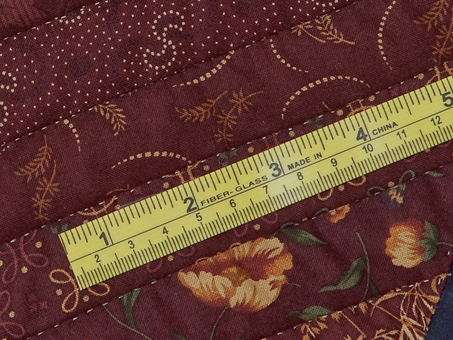 Queen Navy Burgundy and Tan Star Spin Quilt Photo 8