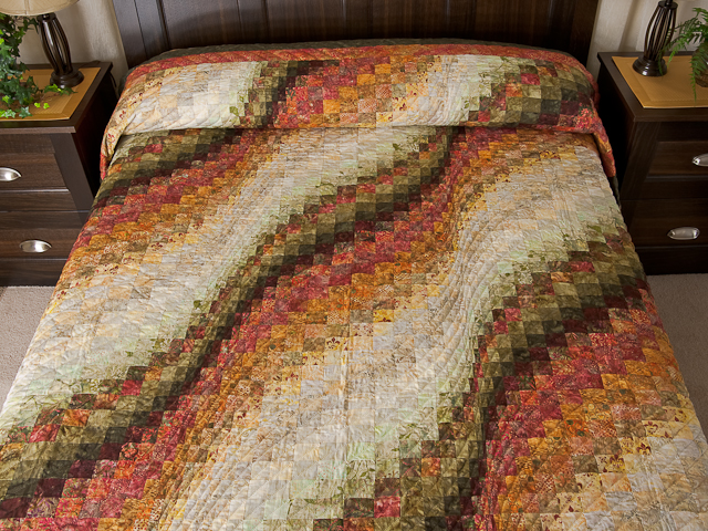 Bargello Wave Quilt Queen Size Photo 1