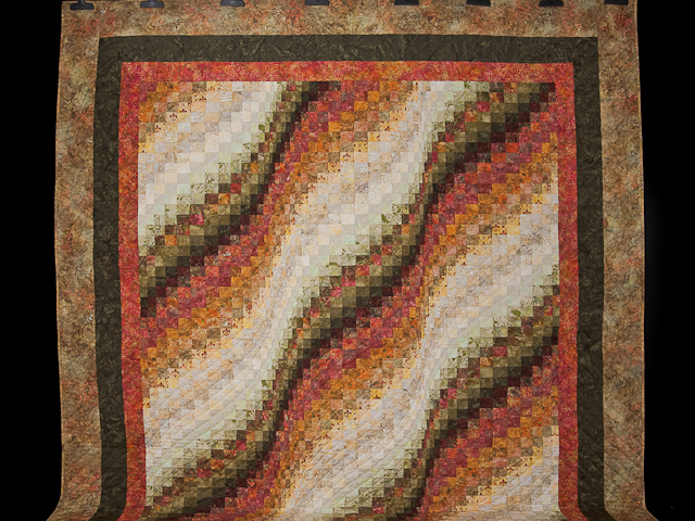 Bargello Wave Quilt Queen Size Photo 2