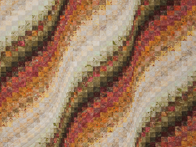 Bargello Wave Quilt Queen Size Photo 3