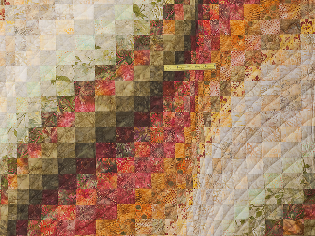 Bargello Wave Quilt Queen Size Photo 5