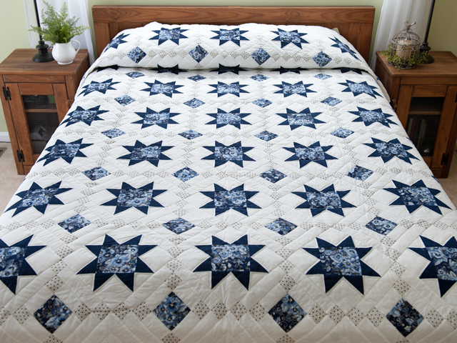 Navy Floral Cross Country Quilt Photo 1
