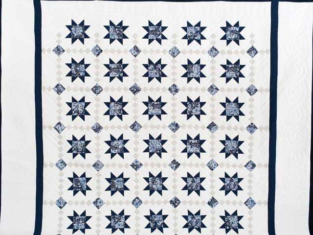 Navy Floral Cross Country Quilt Photo 2