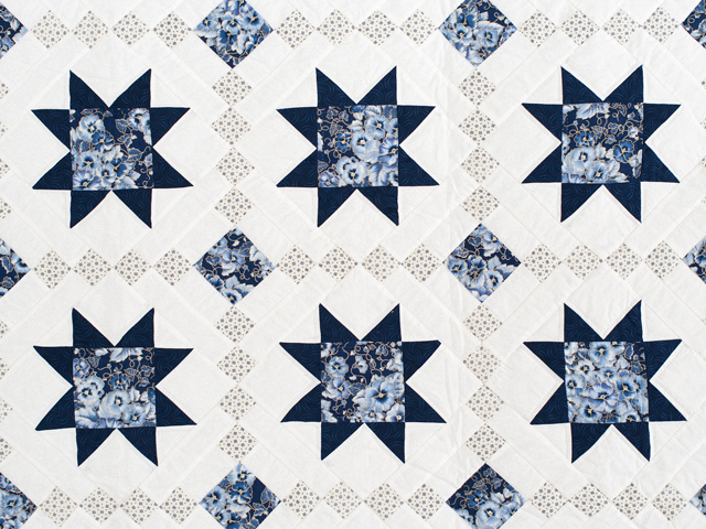 Navy Floral Cross Country Quilt Photo 3