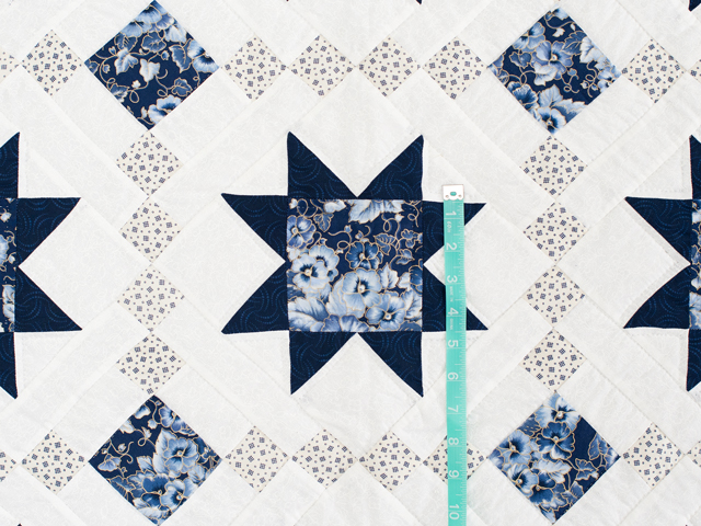 Navy Floral Cross Country Quilt Photo 4