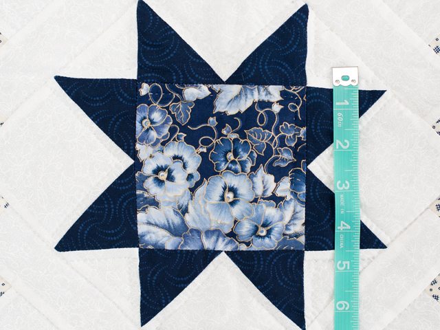 Navy Floral Cross Country Quilt Photo 5