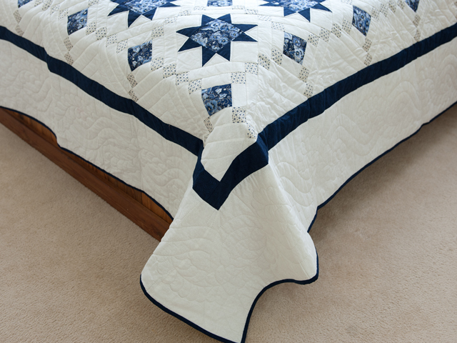 Navy Floral Cross Country Quilt Photo 7