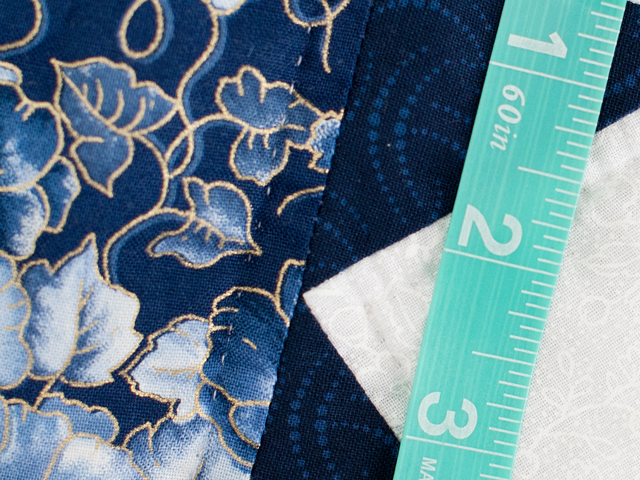 Navy Floral Cross Country Quilt Photo 8