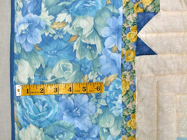 Blue and Yellow Colorado Log Cabin Quilt Photo 6