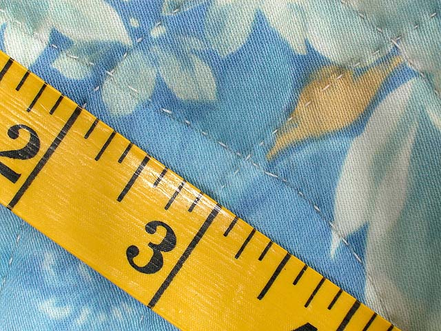 Blue and Yellow Colorado Log Cabin Quilt Photo 7