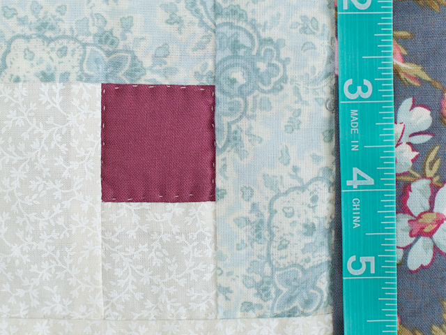 Slate Blue and Rose Lone Star Log Cabin Quilt Photo 6