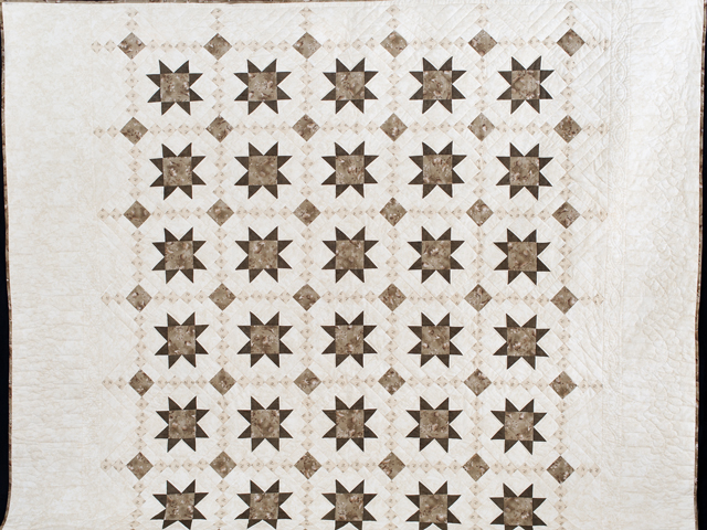 Olive Green and Beige Cross Country Quilt Photo 2