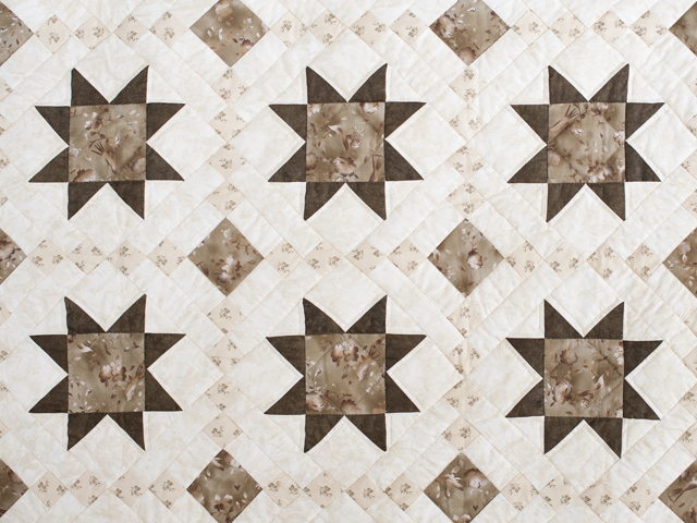 Olive Green and Beige Cross Country Quilt Photo 3