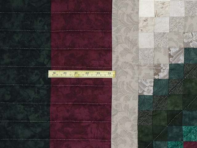 Spruce/Burgundy and Ivory/Gray Trip Around the World Colorsplash Quilt Photo 5