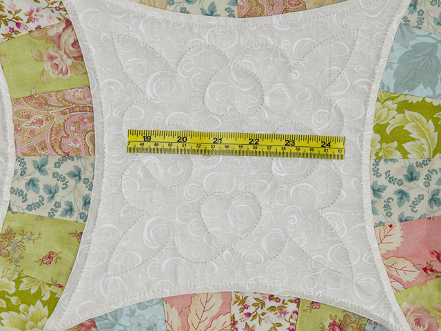 Pastel Double Wedding Ring Quilt King Size Photo 6