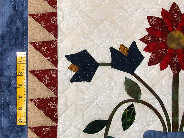 Blue Tan and Multi Pitcher of Flowers Quilt Photo 6