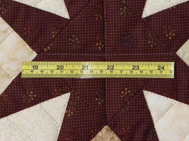 Queen Burgundy Golden Tan and Multi Stepping Through the Stars Quilt Photo 8