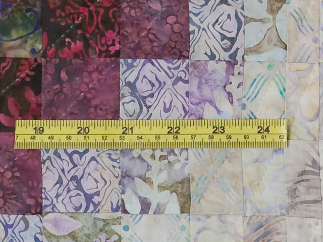 Bargello Wave in plum/raspberry/kiwi/cream King Quilt Photo 8