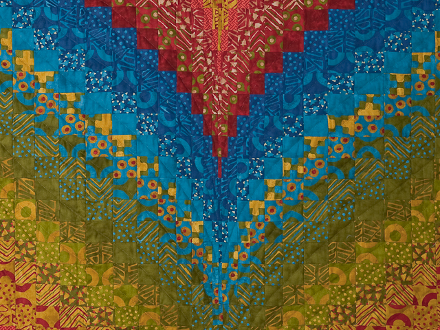 Bargello Flame Quilt King Size Photo 5
