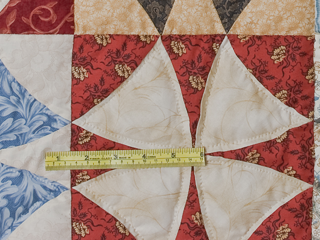 Vintage Blue, Brick, Creams Golds Winding Ways Quilt Queen Size Photo 8